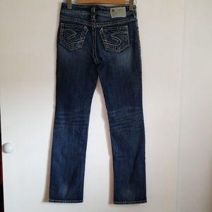 Silver Suki Straight Leg Jeans 28